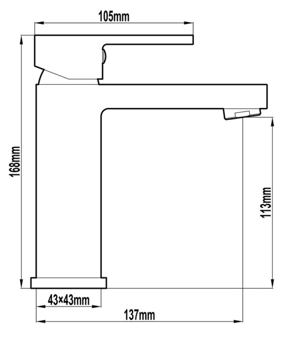 Alto 32mm Basin Mixer