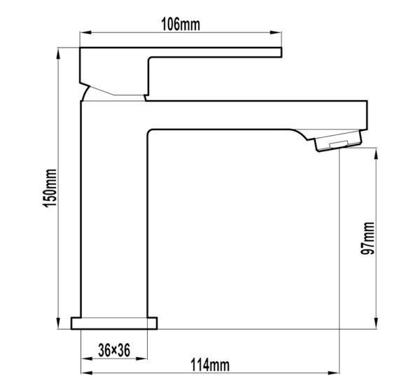 Alto 25mm Basin Mixer